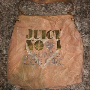 Juicy couture velour bag- rare!